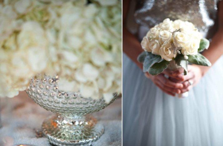winter wedding ideas white ivory wedding flowers