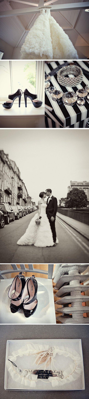 elegant black white real wedding black wedding shoes vera wang bridal gown