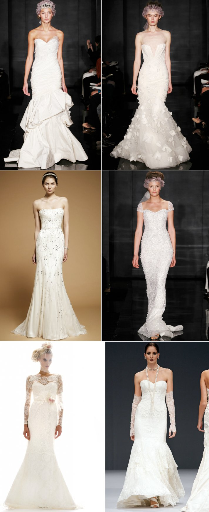 Mermaid style wedding dresses vera wang pictures