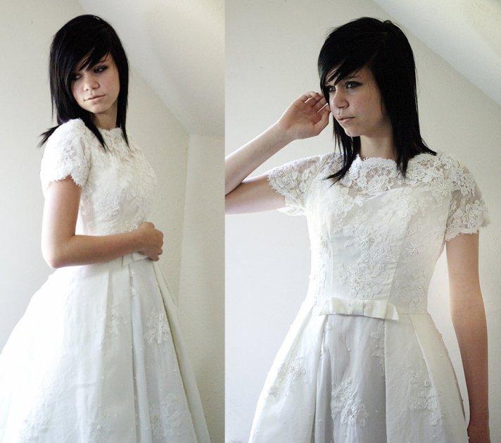 wedding dress trends 2012 lace cap sleeves vintage