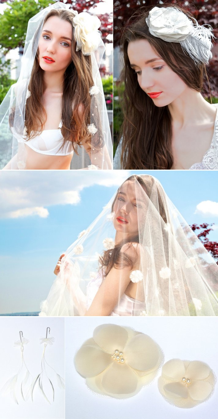 romantic bridal hair accessories wedding jewelry