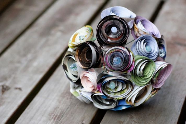 recycled wedding ideas unique bridal bouquet