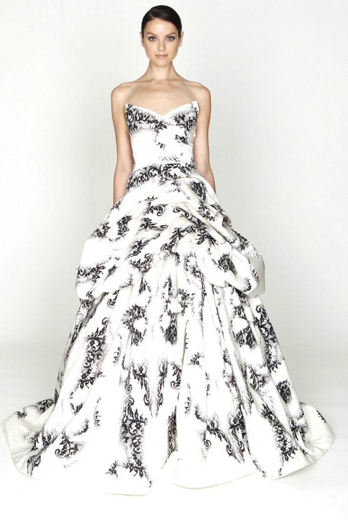 Finest Monique Lhuillier Wedding Dress Ideas With Print