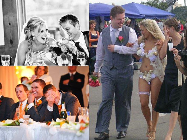 cringe worthy wedding moments bride groom laugh during toast