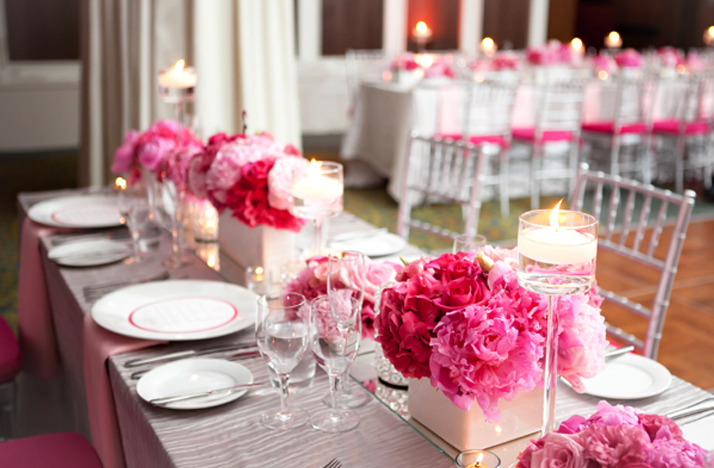 2012 wedding trends pink wedding flower centerpieces - Flower arrangements <3
