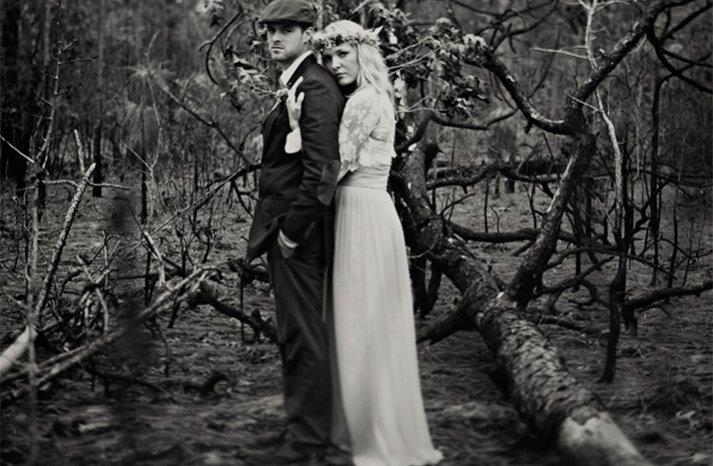 outdoor wedding artistic wedding photography bride groom black white