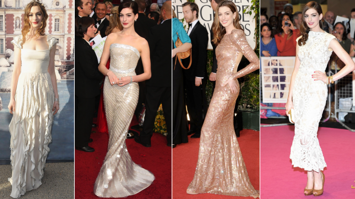 anne hathaway wedding dress ideas red carpet