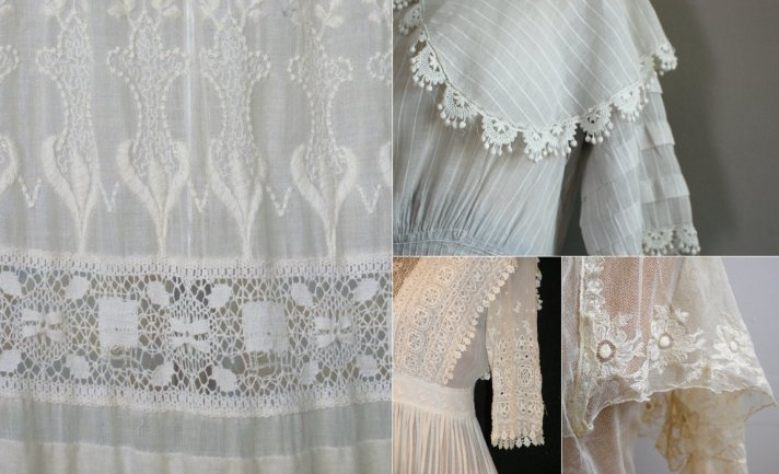 edwardian bridal style vintage wedding dresses lace