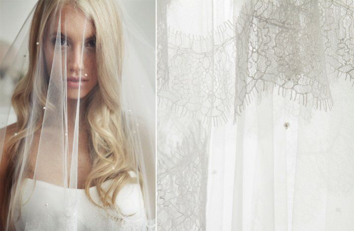 romantic bridal veil crystal embellished