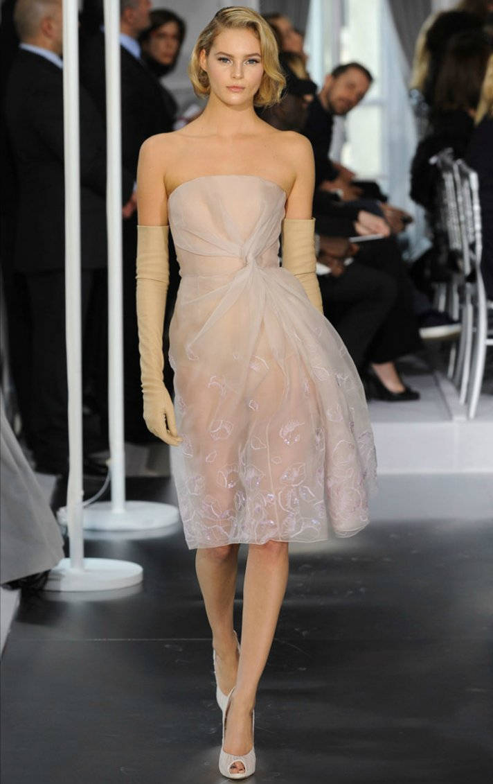 christion dior couture wedding dress for reception spring 2012