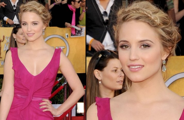 bridal beauty from 2012 sag awards wedding hair makeup diane agron