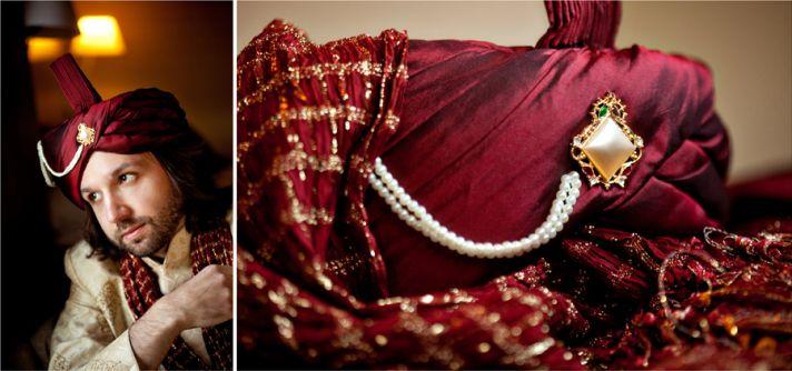 multi cultural weddings indian bride grooms hat