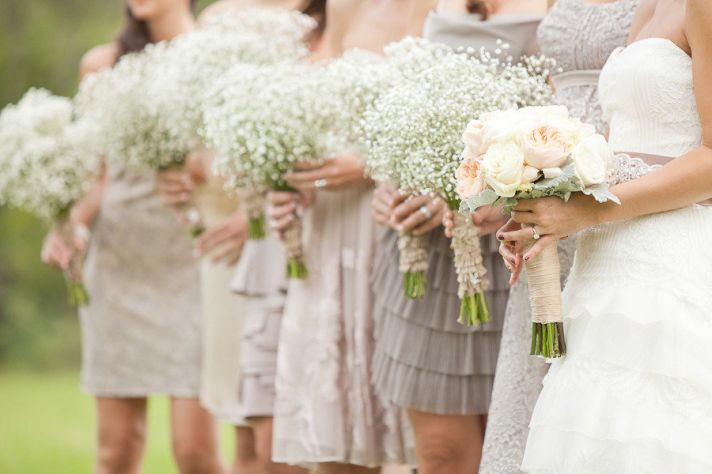 bridesmaid dress wedding trends 2012 white cream gowns