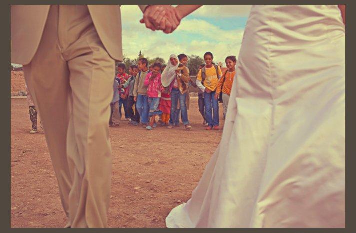 desert wedding offbeat wedding style casual humanitarian bride groom