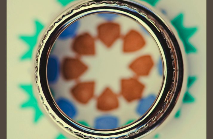 desert wedding offbeat wedding style casual artistic wedding ring photo