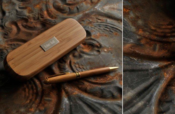 bamboo pen engraved for groomsmen wedding gifts