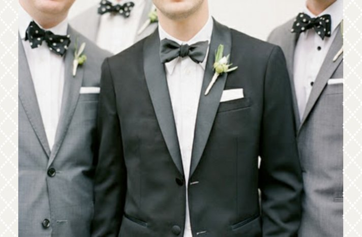 classic grooms style bow ties with groomsmen