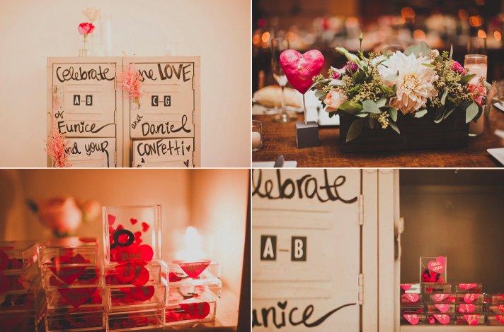 love themed wedding favors real wedding california