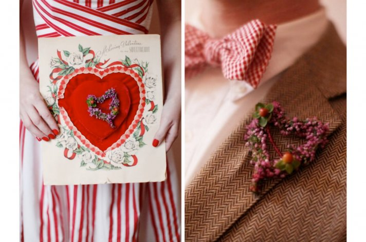 red white wedding inspiration vintage valentines 1
