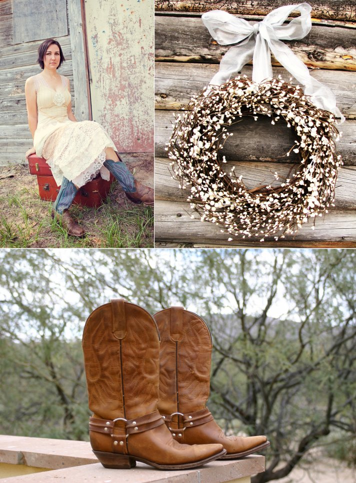 rustic western themed wedding