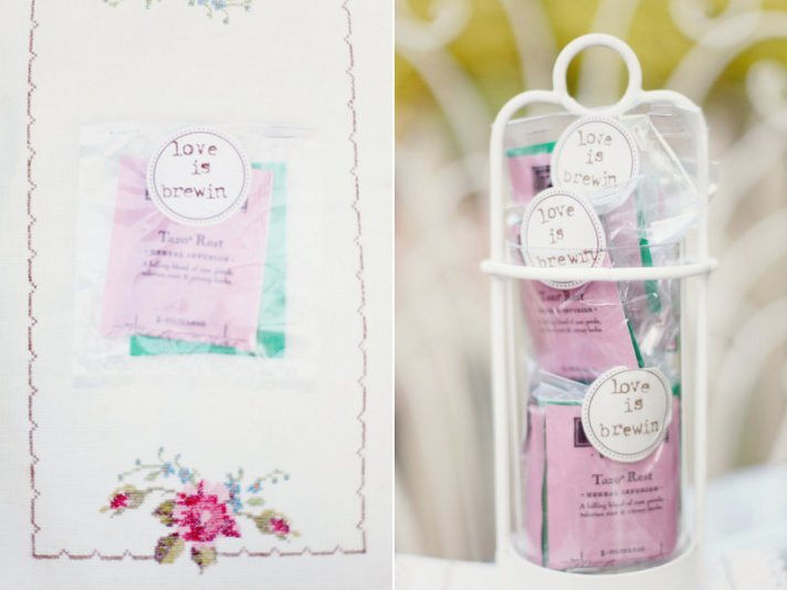 unique wedding guest favors herbal tea