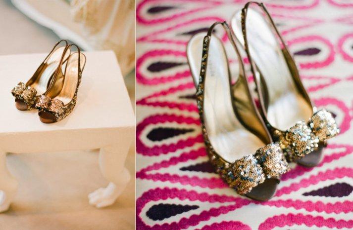 gold sparkle wedding shoes peeptoe