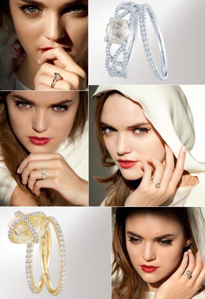 DITR unique engagement rings 2012 wedding jewelry trends rough cut diamonds