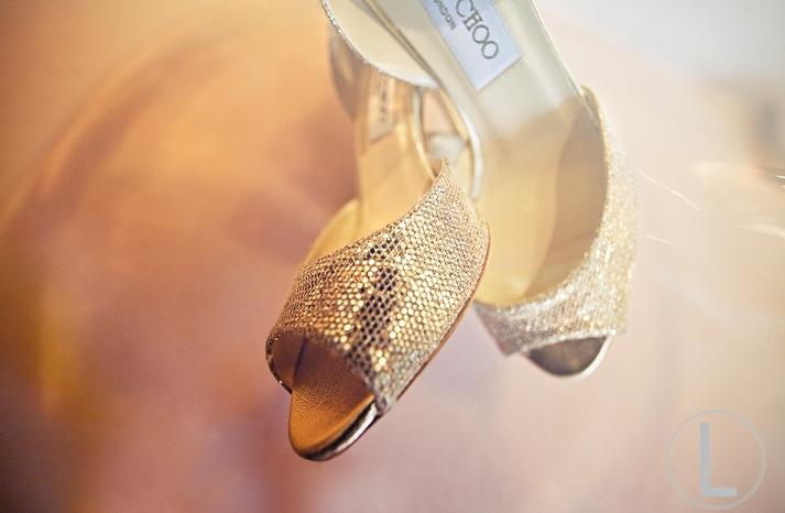 gold wedding shoes jimmy choo peep toes