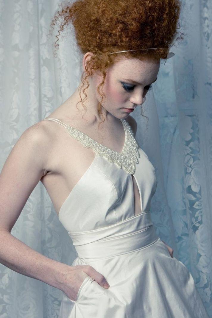 halter wedding dress all white romantic