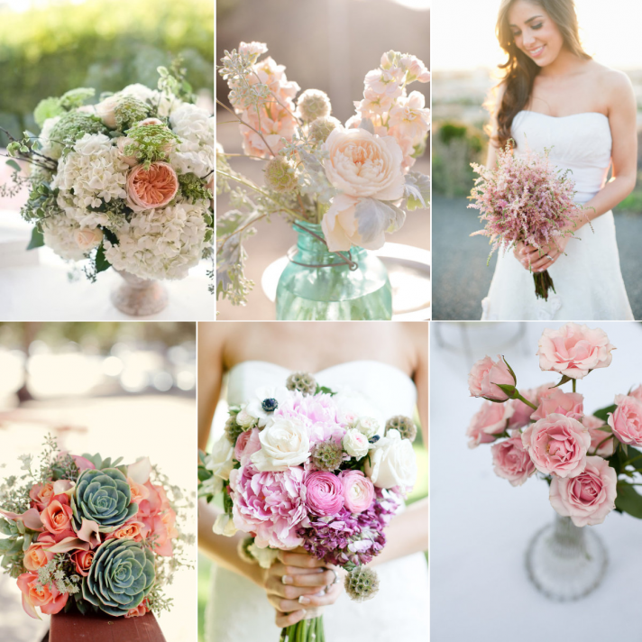 vintage inspired wedding color palette bridal boquuet wedding flowers