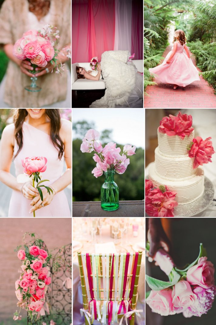 Weddings by Color: Peony Pink, Grass Green