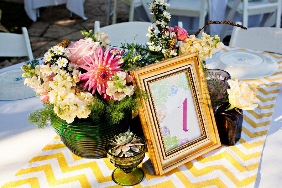 succulent wedding reception decor modern linens