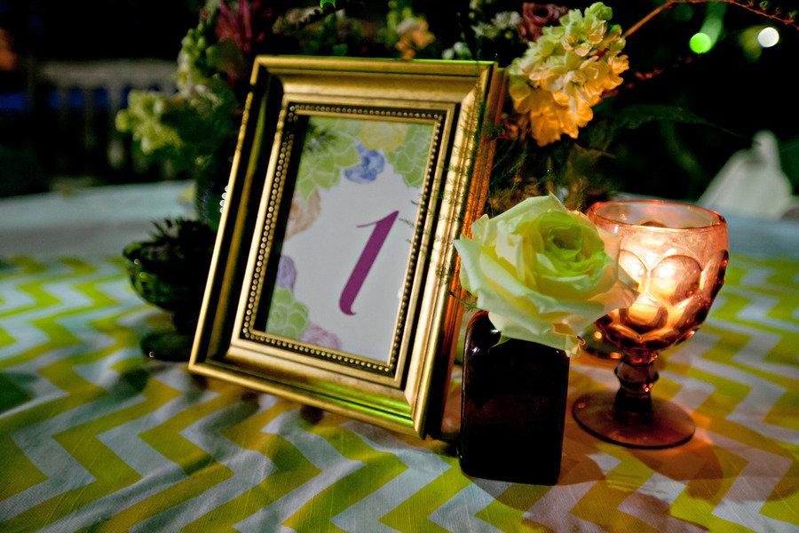 retro meets modern outdoor wedding reception decor