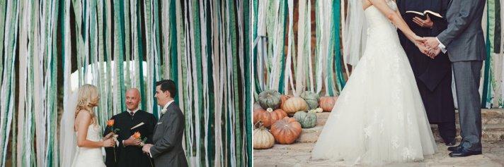 whimsical wedding reception decor ribbon backdrop wedding DIY 3