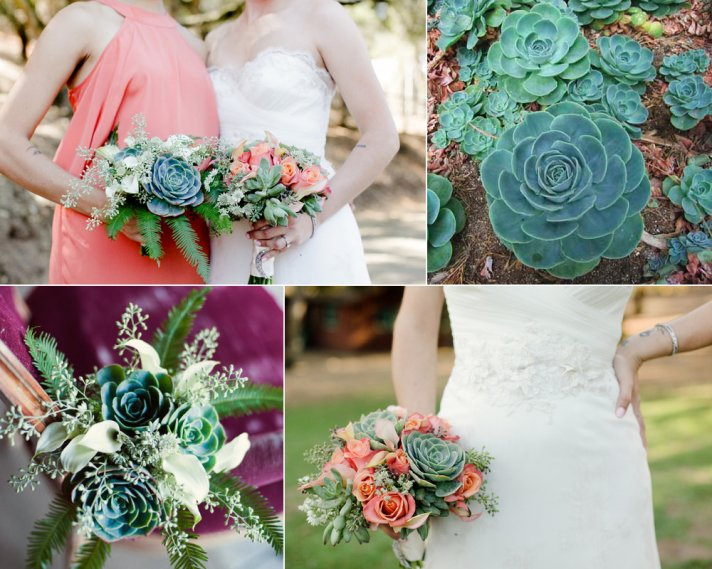 eco friendly wedding flowers succulent bridal bouquet- Echeveria x imbricata succulent type