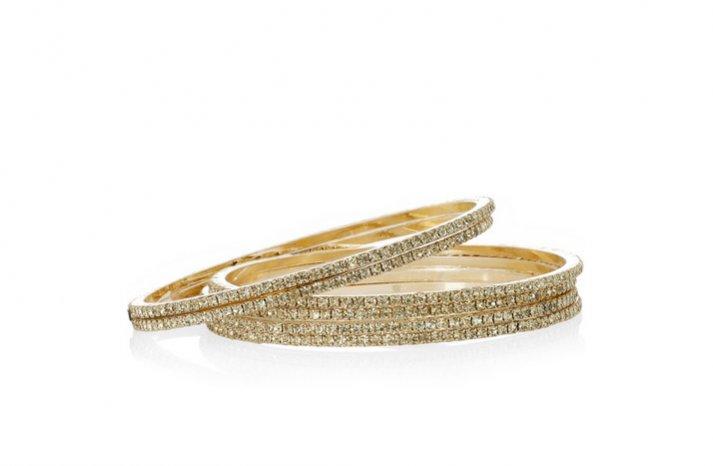 bridesmaid gift ideas sparkly gold bangles