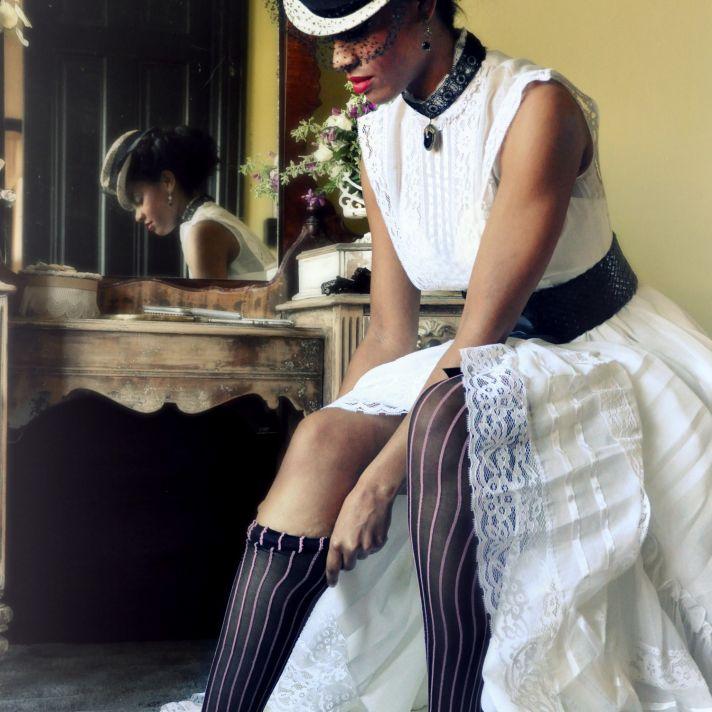 offbeat wedding style steampunk wedding dress
