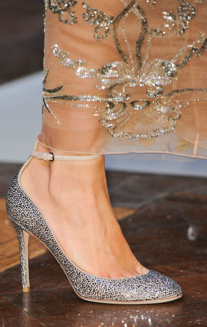 Beautiful Bridal Shoes: Valentino bow-embellished satin sandals &gt