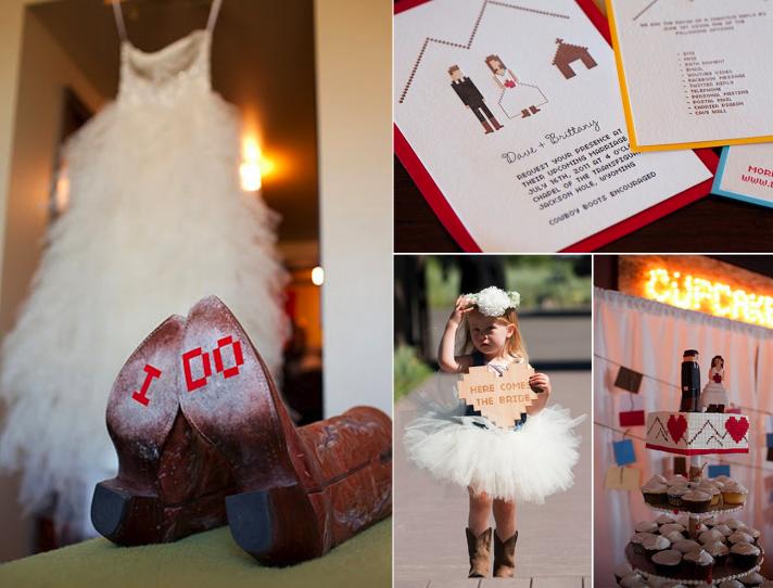 techy real weddings 2012 cowboy theme David Stubbs via Jesi Haack Weddings
