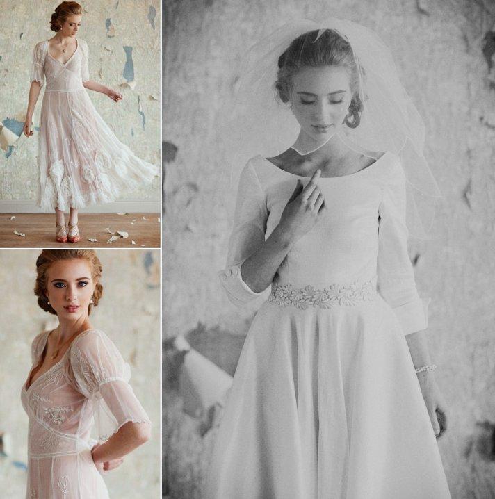 tea length wedding dresses vintage inspired
