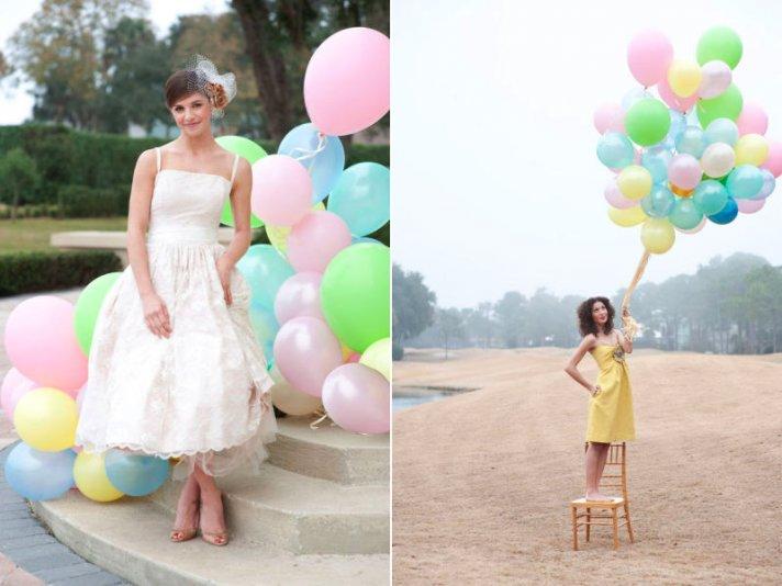 pastel balloons outdoor weddings