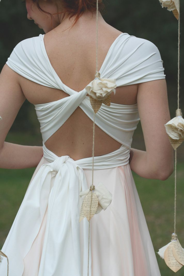 2012 bridal gowns tea length wrap dress