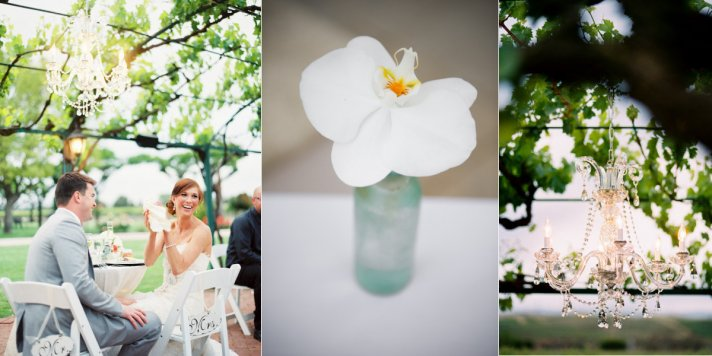 outdoor wedding inspiration white orchid wedding flowers chandeliers