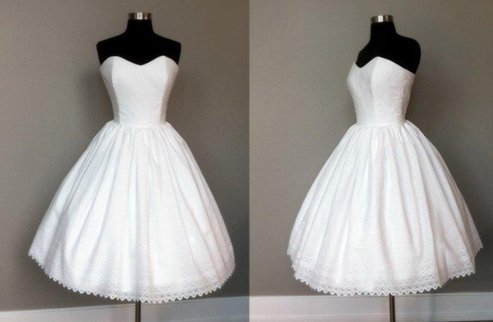 wedding reception dress tea length vintage bridal gowns