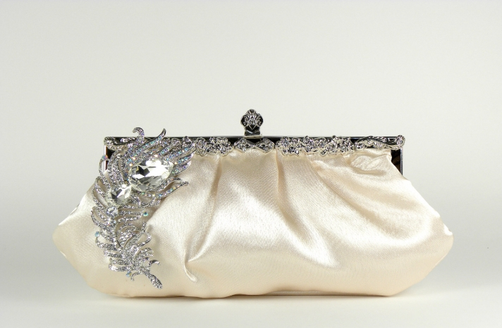 luxe bridal clutch