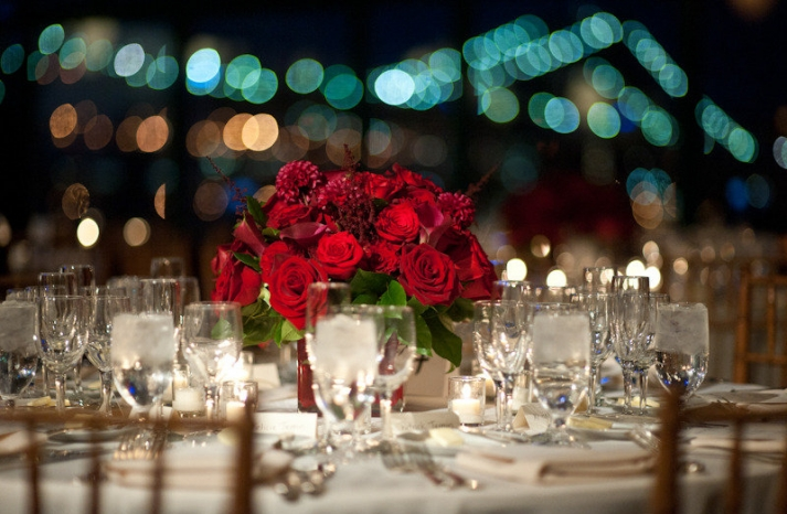 bold red rose wedding centerpiece Browse all Flowers by