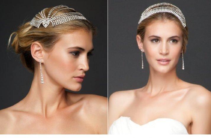vintage inspired bridal headpiece 2012 wedding accessories by bebe
