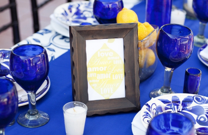 wedding color palettes bridal inspiration from real weddings cobalt blue lemon yellow tablescape