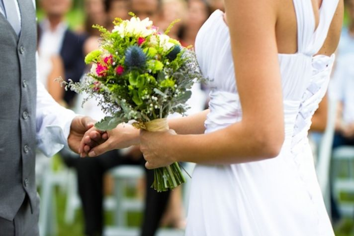 romantic outdoor wedding spring wedding inspiration bride groom vows