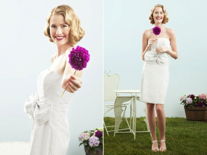 elegant little white wedding dresses for reception LWD 2